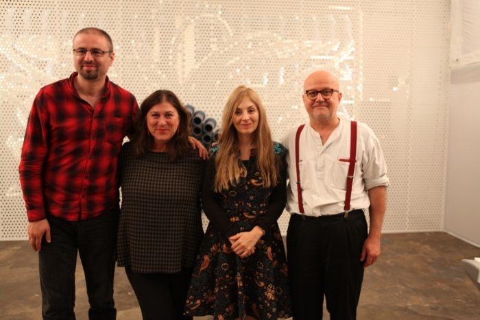 V.l.n.r.: Nikola Madzirov, Eva Mattes, Julia Kissina, Wolfgang Georgsdorf.