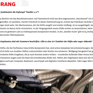 """Dufte Geschichten"" in: Sturm und Drang (german)"