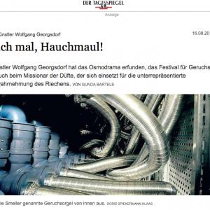 """Hauch mal, Hauchmaul!"" in: Der Tagesspiegel (german)"
