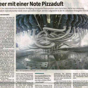 """Teer mit einer Note Pizzaduft"" in: taz (german)"