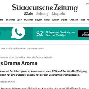 """""""Das Drama Aroma"""" in: Süddeutsche Zeitung (german)"""