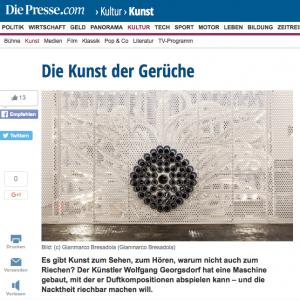 """""""Die Kunst der Gerüche"""" in: Die Presse (german)"""