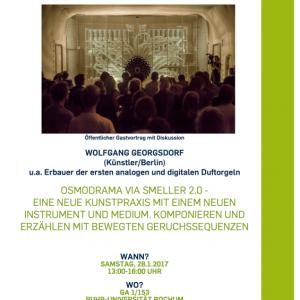 Gastvortrag über Osmodrama via Smeller 2.0  Ruhr-Universität Bochum, 28.1.2017