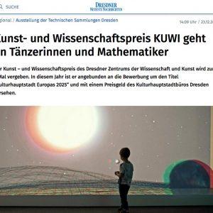 Kunst- und Wissenschaftspreis KUWIin: Dresdner Neueste Nachrichten (german)
