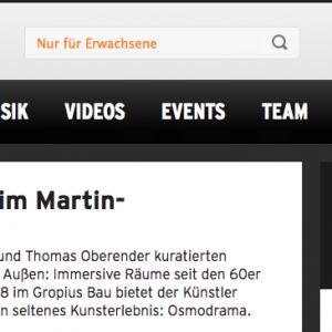 """""""Osmodrama im Martin-Gropius-Bau"""" in: radio eins (deutsch)"""