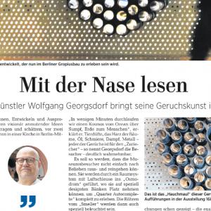 """""""Mit der Nase lesen"""" in: Märkische Allgemeine Zeitung (german)"""