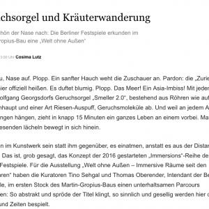 """""""Geruchsorgel und Kräuterwanderung"""" in: Berliner Morgenpost (deutsch)"""