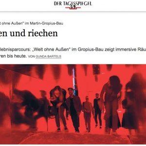"""""""Kriechen und riechen"""" in: Tagesspiegel (deutsch)"""