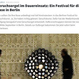 Geruchsorgel im Dauereinsatz: Ein Festival für die Nase in Berlinin: ingenieur.de (german)