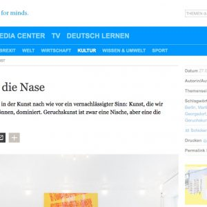 """Kunst für die Nase"" in: Deutsche Welle (deutsch/english)"