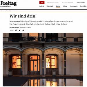 """""""Wir sind drin!"""" in: der Freitag (deutsch)"""